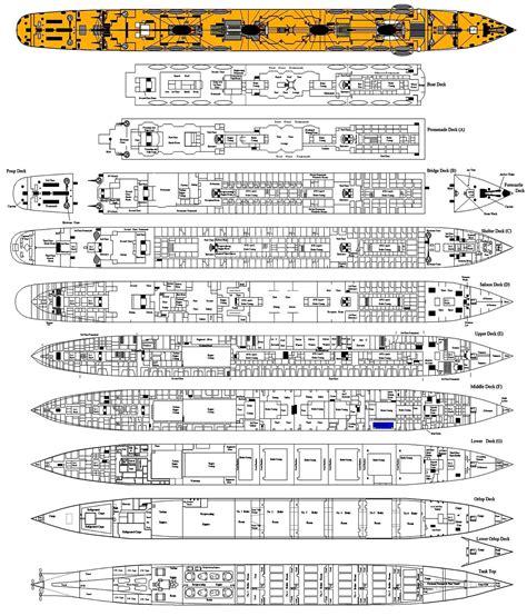 titanic floor plan rms titanic page three deck plan