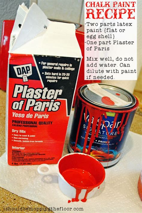 chalk paint plaster of recipe paint chalk paint recipes and plaster of on