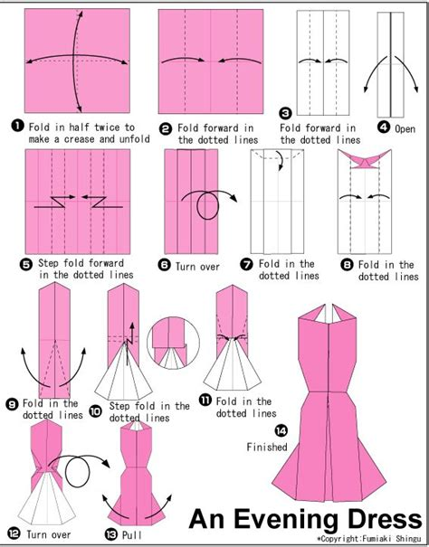 easy origami dress 25 best ideas about origami dress on how to