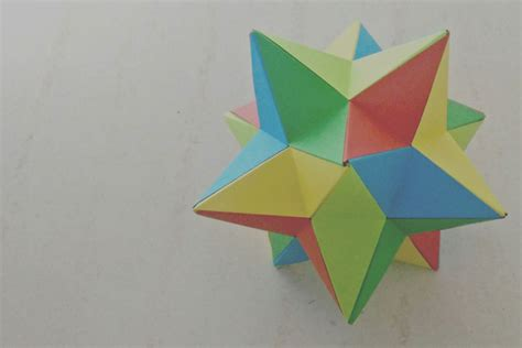 origami stellated dodecahedron origami lesser stellated dodecahedron meenakshi mukerji
