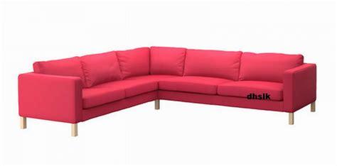 pink sofa slipcover ikea karlstad corner sofa slipcover cover sivik pink