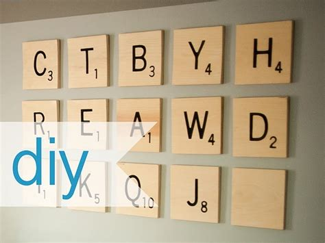 how to make large scrabble tiles diy scrabble wall diy wall
