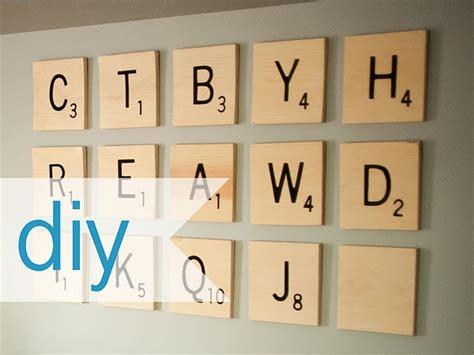 Diy Scrabble Wall Diy Wall