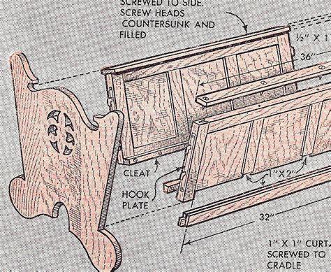 Woodworking Plan Pattern Baby Infant Cradle Crib Ebay