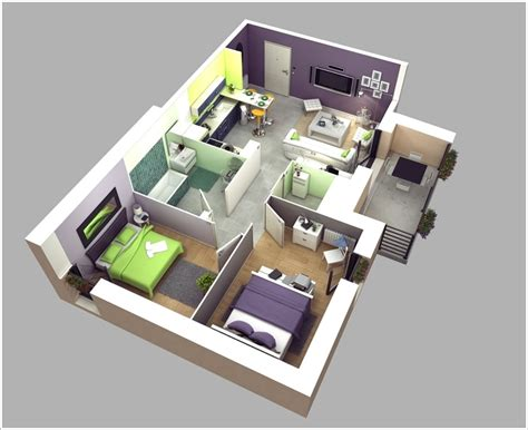 floor plans for two bedroom homes 10 awesome two bedroom apartment 3d floor plans