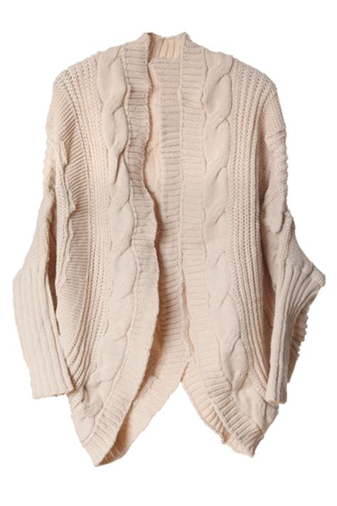 oversized cable knit cardigan romwe oversized cable knit cardigan the
