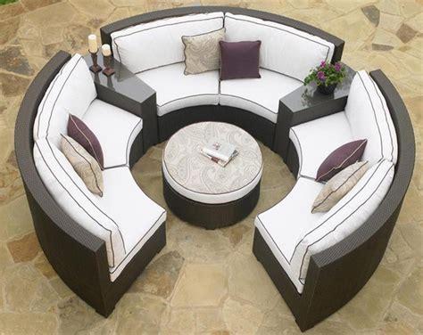 circular outdoor furniture circular patio sectional wicker modern outdoor