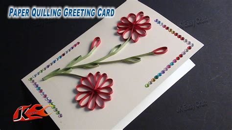 how to make a greeting card diy easy paper quilling greeting card without tool how