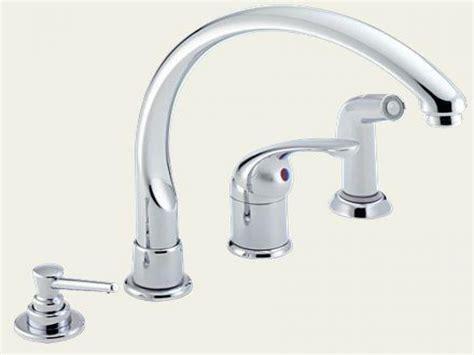 delta 2 handle kitchen faucet delta single handle kitchen faucet with spray delta dst