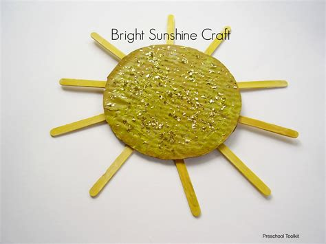 sun craft for a bright craft to make with preschoolers