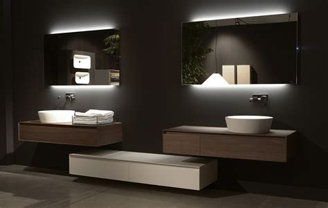 back lit bathroom mirrors flash back lit mirror by antonio lupi ambient kitchens