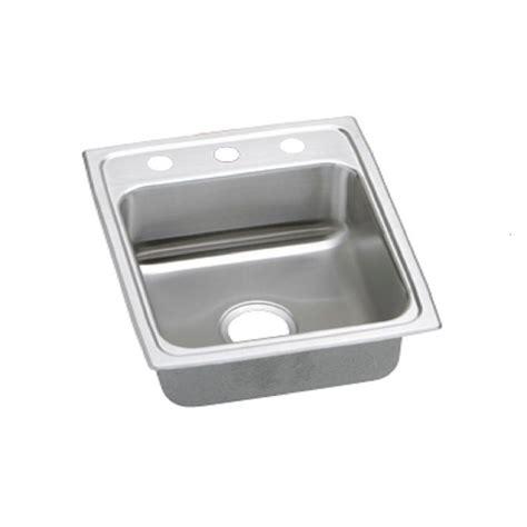 drop in stainless steel kitchen sink elkay lustertone drop in stainless steel 15 in 3