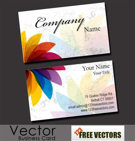 card ideas free free business card vector free vector