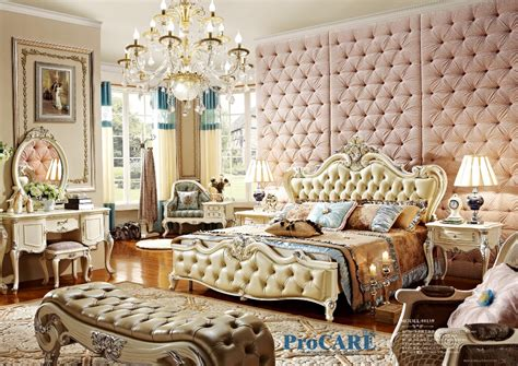 high end bedroom furniture sets high end solid wood and leather bed baroque bedroom