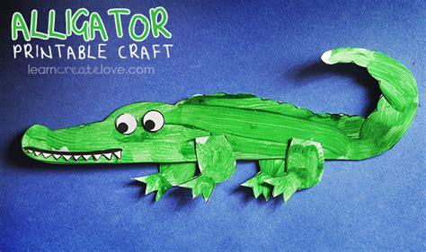 crocodile craft for printable alligator craft