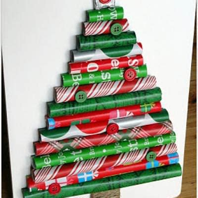 Wrapping Paper Tree Crafts Tip Junkie