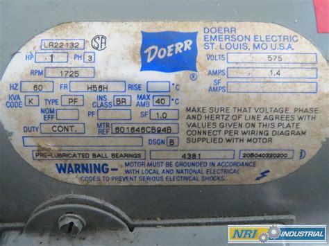Doerr Electric Motor by Doerr Lr22132 Wiring Diagram Wiring Library