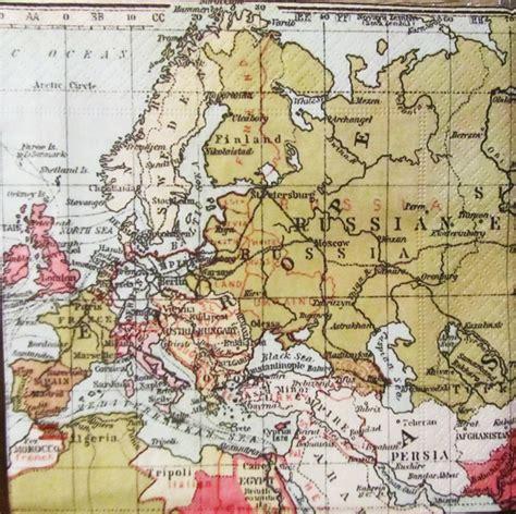 decoupage world 10 vintage map of the world paper napkins decoupage
