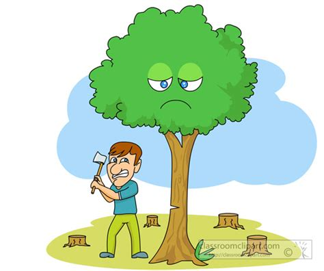cutting tree tree cutter clipart