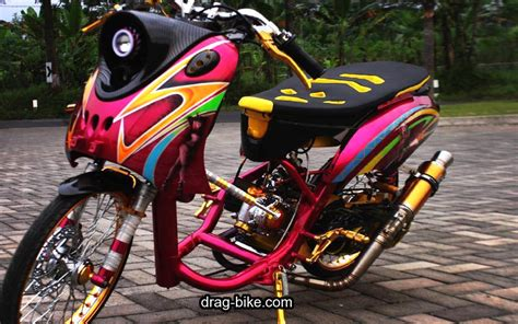 Gambar Modifikasi Motor Drag by Gambar Motor Drag Mio Fino Automotivegarage Org