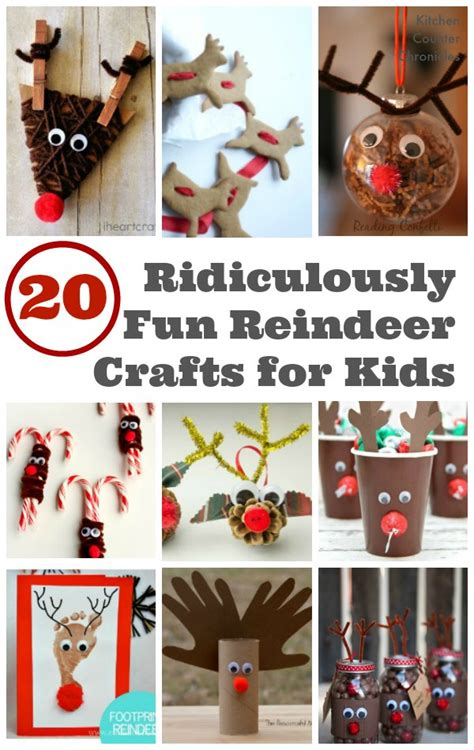 reindeer craft for 20 ridiculously reindeer crafts for