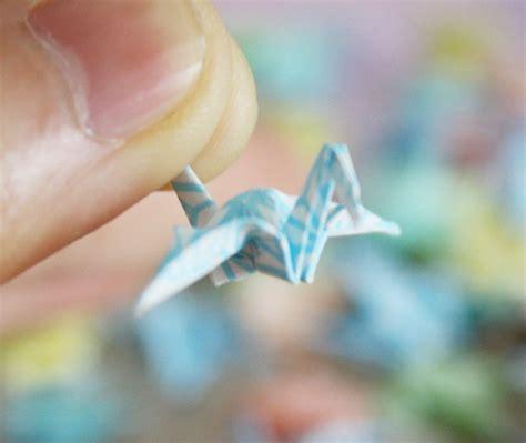 miniature origami 15 multi rainbow color miniature origami cranes set for