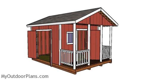 shed with porch plans free 12x12 shed with porch door plans myoutdoorplans free