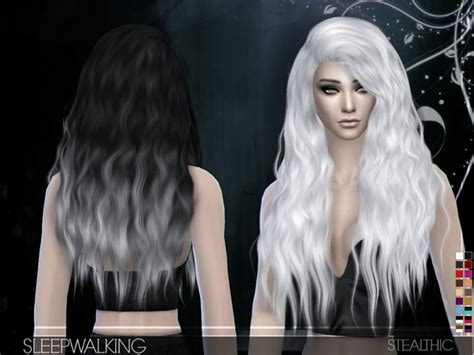 custom contant hair in the sims 4 sleepwalking female hair by stealthic at tsr 187 sims 4 updates