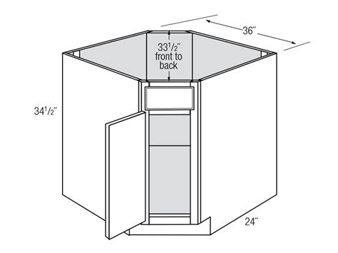 corner kitchen base cabinet yarmouth 1 door diagonal corner sink base cabinets
