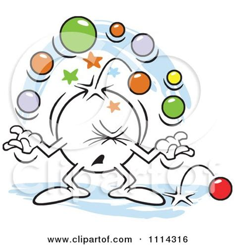 medical assistant history clipart moodie character juggling with too many balls