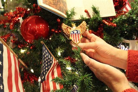 patriotic tree ornaments dush family has made pine tree barn a tree