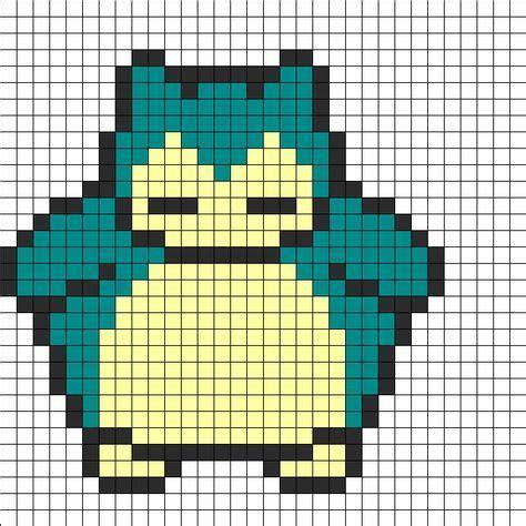 perler bead grid snorlax grid charts graphs perler