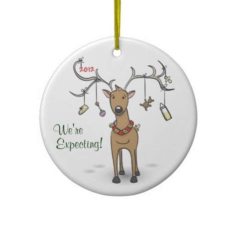 expectant parents ornaments pregnancy ornament reindeer expecting parents to be