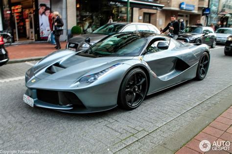 metallic grey laferrari spotted in belgium, front side