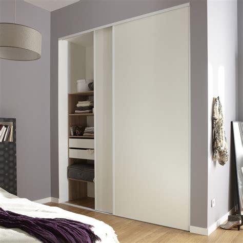 lot de 2 portes de placard coulissante optimum l 210 x h 250 cm leroy merlin