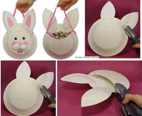 paper plate easter crafts wonderful diy easter paper plate bunny basket