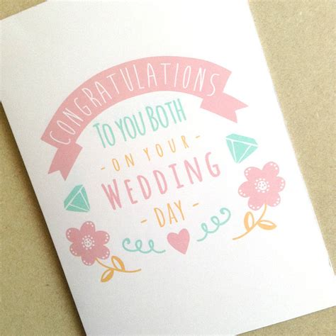 how to make a congratulations card personalised congratulations wedding day card by ello