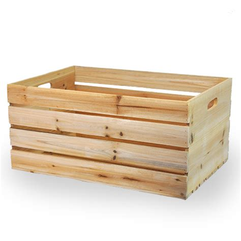 large wooden wooden storage crate with in handles large