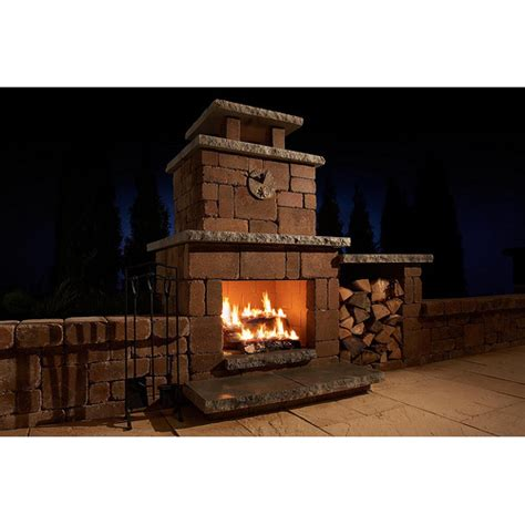 outdoor fireplace kit compact outdoor fireplace kit