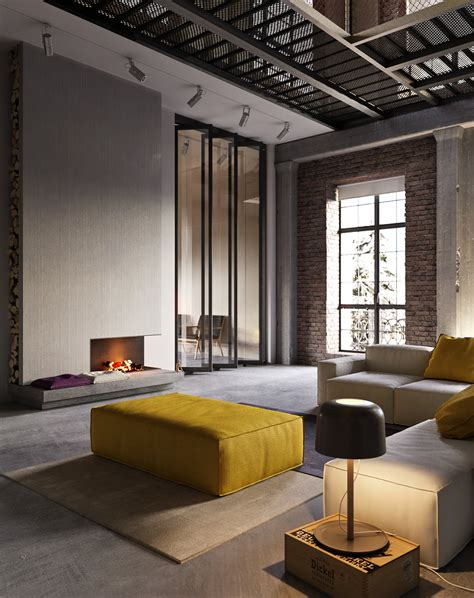 apartment style industrial style apartment in kiev design