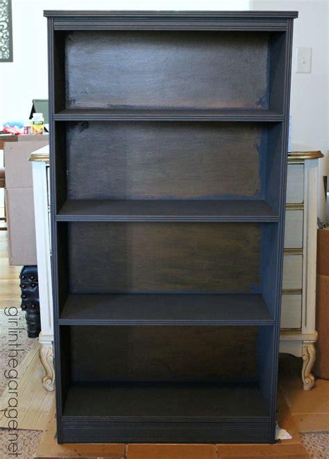 chalk paint bookshelf diy decoupage bookcase in the garage 174