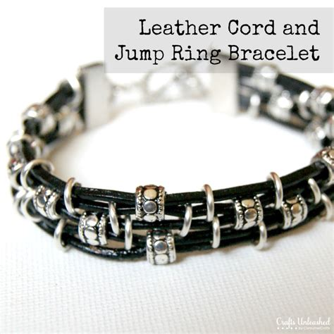 how to make jewelry with leather cord diy leather bracelet featuring cord jump rings