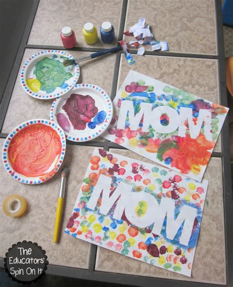 craft ideas 2013 easy mothers day craft idea for with paint resist