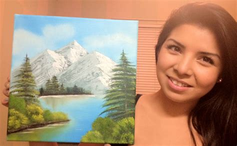 bob ross paintings kit i got a bob ross painting kit for my bday this is my