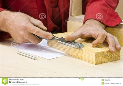 traditional woodworker traditional woodworker using chisel stock photos image