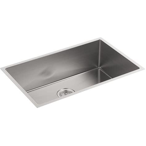 kohler stainless kitchen sink kohler strive stainless steel large single bowl kitchen