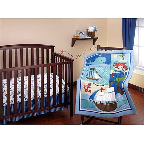 walmart baby crib bedding sets bedding by nojo baby buccaneer 3 crib bedding