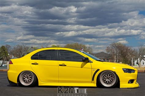Wallpaper Car Yellow by Car Stance Yellow Cars Mitsubishi Lancer Evo X