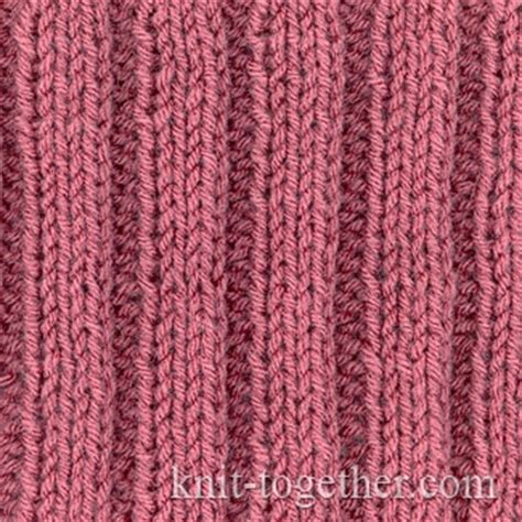 rib knit knit together simple easy rib 3x2 with needles and
