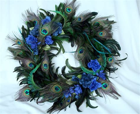 peacock feather home decor peacock home decor wreath feathers by amorevivo on